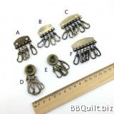 Key Ring/Key row in antique Bronze|DIY key pouch|DIY Keychains holder bag material