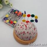 Flower Head Sewing Pins-50/Pkg