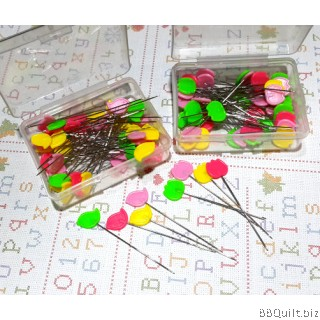 Birds/Tulips Flat Head Pins|Mixed Colour|50pkg