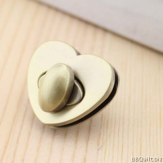 Heart Shaped Bag Lock| Antique Brass