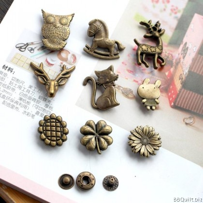633# Metal Snap Button collection|Snap Fastener|Bronze