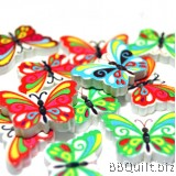10x Butterfly shaped buttons|2 Hole Animal Buttons|Wooden buttons