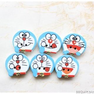 10x Wooden Doraemon Buttons|2 Hole Buttons