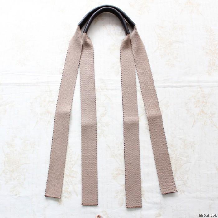 Real Leather Bicolour Cotton Canvas Webbing Handle Bag Straps 2 Colours 110cm 3 5cm