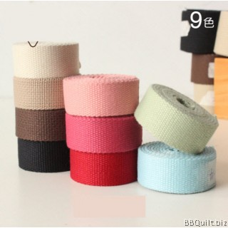 25mm width|Polyester-cotton Canvas Webbing|Bag Straps|9 colours
