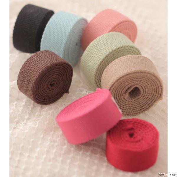25mm width Polyester-cotton Canvas Webbing Bag Straps 9 colours