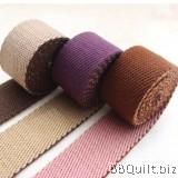 32mm width|Bicolor Polyester-cotton Canvas Webbing|Bag Straps|3 colours