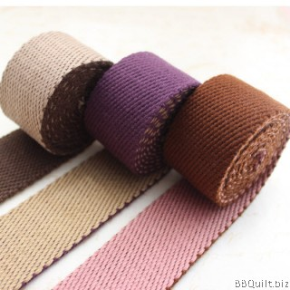 32mm width Bicolor Polyester-cotton Canvas Webbing Bag Straps 3 colours