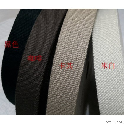 30mm width|Polyester-cotton Canvas Webbing|Bag Straps|4 colours