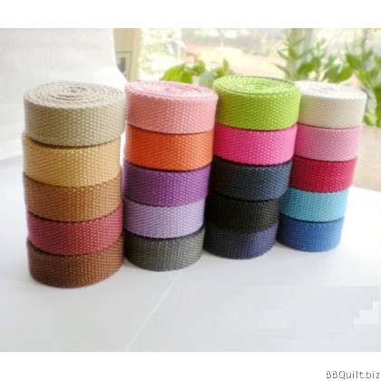 20mm width|Polyester-cotton Canvas Webbing|Bag Straps|13 colours