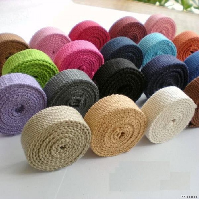 20mm Width Polyester Cotton Canvas Webbing Bag Straps 12