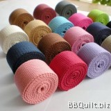 32mm width|Polyester-cotton Canvas Webbing|Bag Straps|10 colours