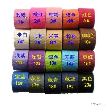 32mm width|Polyester-cotton Canvas Webbing|Bag Straps|12 colours
