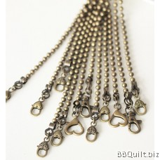 Purse Chain 5.5mm Ball bead chain Antique Brass 2 sizes 6 style