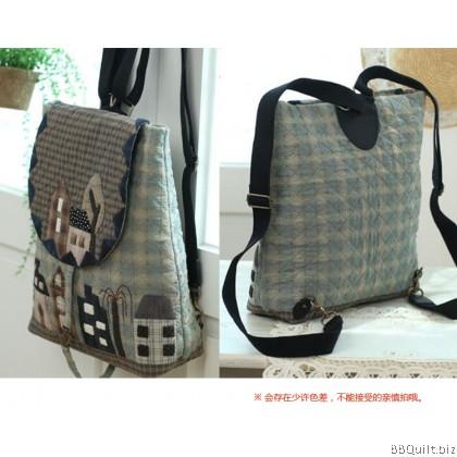 Adjustable Backpack Straps|Real leather+Bicolour Cotton Canvas Webbing handle|Shoulder Straps|3 colours