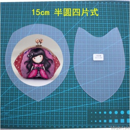 Purse Frame Stencil Template Set|Half round 4 pcs style|Reuseable frosted pvc template|Gamaguchi bag|5 sizes