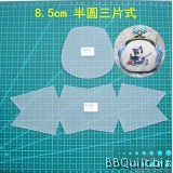 Purse Frame Stencil Template Set Half round mixed style Reuseable frosted pvc template Gamaguchi bag