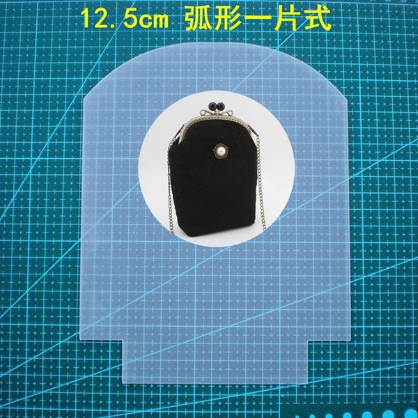Purse Frame Stencil Template Set Curve Shaped Reuseable frosted pvc template Gamaguchi bag