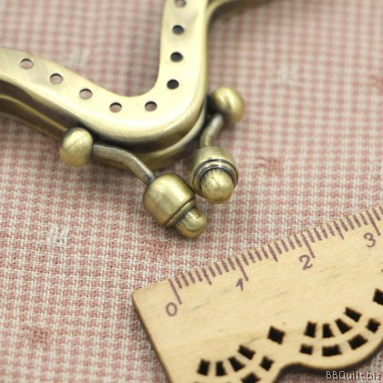 Sew-in Patterned|Unique purse frames|Mountain-shaped clasps|Bronze|10cm