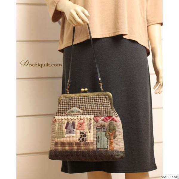 Sew-in Patterned|Antique Bronze|Rectangular Purse Frame|Gamaguchi bag Clasps|7 sizes