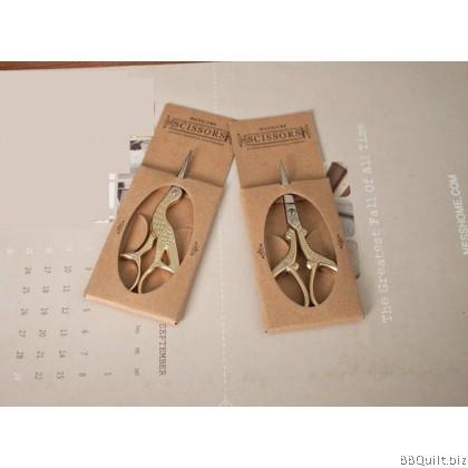 Antique Zakka Scissors|Embroidery Scissors|2 design|Gold/Silver