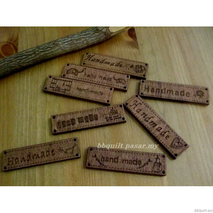 Handmade signs wooden tags engraved tags craft buttons diy for Custom tags for crafts