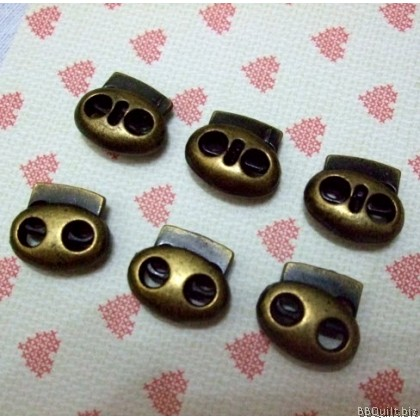 6x Antique Brass finish cord stopper|Cord Locks|Drawstring Lock|Spring buckle