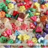 DIY Craft supplies Mini Plastic Buttons 2 Hole Buttons Various colours+Block colour