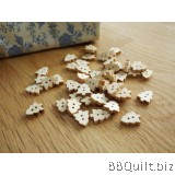 Stock clearance|DIY Craft supplies|Christmas tree buttons|Natural wood colour|40pcs/pcks