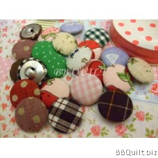 Fabric Covered Buttons|Loop shank button|DIY Craft supplies|7 Sizes