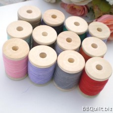 2x Wooden Thread Spools|Wooden bobbins|Natural Color|2.6*4CM