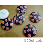 Stock clearance|DIY Craft supplies|Flower wooden buttons|12pcs/pcks|18mm