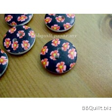 Stock clearance|DIY Craft supplies|Flower wooden buttons|12pcs/pcks|18mm