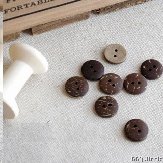 10x Natural Buttons|Coconut Shell Buttons|Round Button|2 Holes Button|12.5mm&15mm