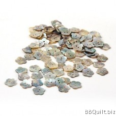 10x Mother of Pearl Buttons|Flower Shell Buttons|2 Holes Button|12mm