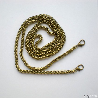 Purse Chain|Wheat Chain|Antique Brass|120cm