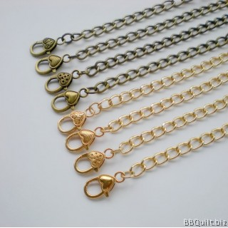 Purse Crossbody Chain Strap|Curb Chain|Antique Brass|120cm