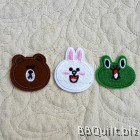 LINE Friends Characters Embroidery Applique Patch Sew Iron Badge