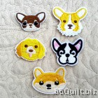 Dog Lover Man's Best Friend Embroidery Applique Patch Sew Iron Badge