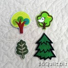 Trees Embroidery Applique Patch Sew Iron Badge