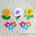 Flower Floral Embroidery Applique Patch Sew Iron Badge
