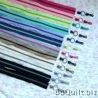 #5 Molded Plastic Continuous Zipper Chain Zipper by the Yard Multi colour