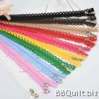 #3 Nylon coil Stars Lace Zipper 25cm in 10colours