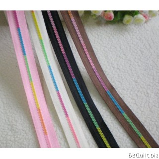 #3 Unique Multicolor Teeth Zipper|Continuous Zipper Chain|Zipper by the Yard