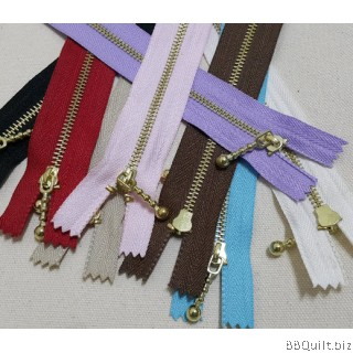 "#3 Golden color Brass Zippers|closed-end|Metal Zippers|8"" inch  8colours"