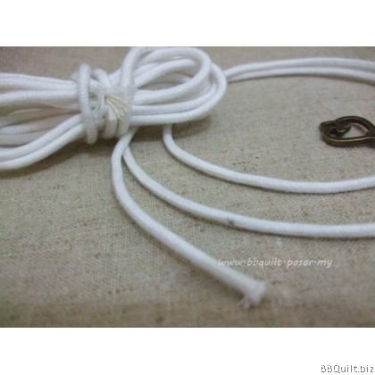 3mm White Cotton cord|string