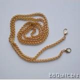 Purse Chain|Wheat Chain|Light Gold|120cm