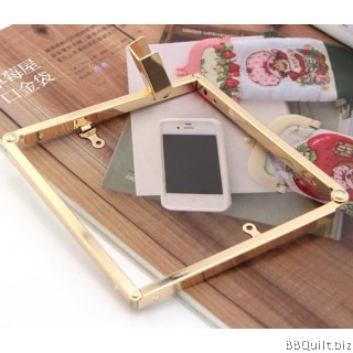 24cm Gold Clutch Purse Frame with Chain Loops