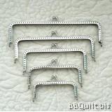 Basic Silver Rectangular Purse Frame|Gamaguchi bag Clasps|5 sizes