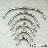 Basic Silver Half Round Purse Frame|Gamaguchi bag Clasps|6 sizes